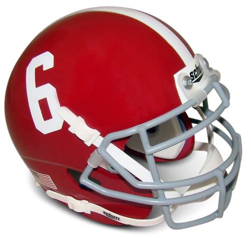 Alabama Crimson Tide #6 Schutt Mini Authentic Football Helmet