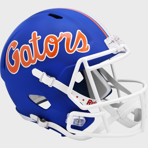 Florida Gators 2021 Matte Blue NCAA SPEED Riddell Full Size Replica Football Helmet