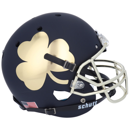 Notre Dame Fighting Irish Alternate Shamrock Black Schutt Mini Authentic Football Helmet