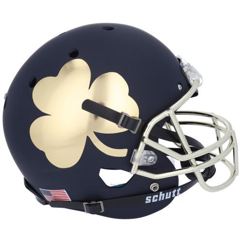 Notre Dame Fighting Irish Alternate Shamrock Black Schutt Full Size Replica Football Helmet