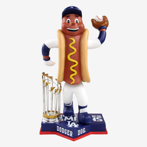 "Dodger Dog Los Angeles Dodgers 2020 World Series Champions 8"" Bobblehead Bobble Head Doll"