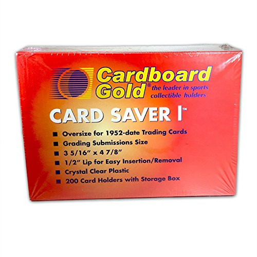 Card Saver 1 - Semi Rigid Sleeves Protectors - PSA - BGS - Graded Card Submissions (200 cout box)