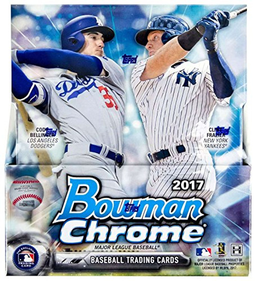 MLB Topps 2017 Bowman Chrome Trading Card Master Hobby Box [2 Mini-Boxes] - 12 packs of 5 cards