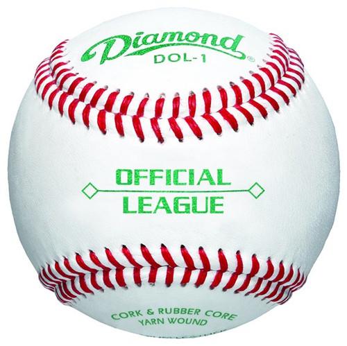 Diamond Official League Leather Grade Baseballs (Dozen) DOL-1 OL