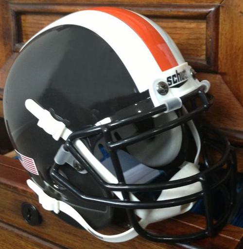 Oregon State Beavers Alternate Black with Stripes Schutt Mini Authentic Helmet