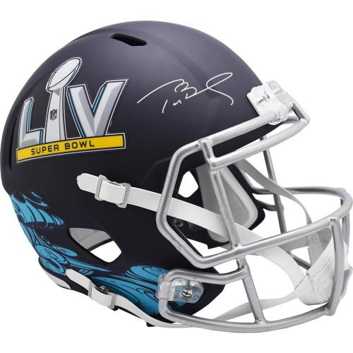 Tom Brady Tampa Bay Buccaneers Autographed Riddell Super Bowl LV Speed Replica Helmet