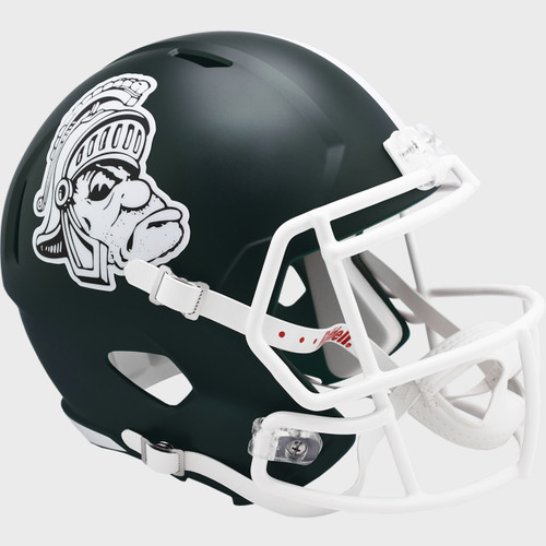 Michigan State Spartans Gruff Sparty Riddell Full Size Replica Speed Football Helmet
