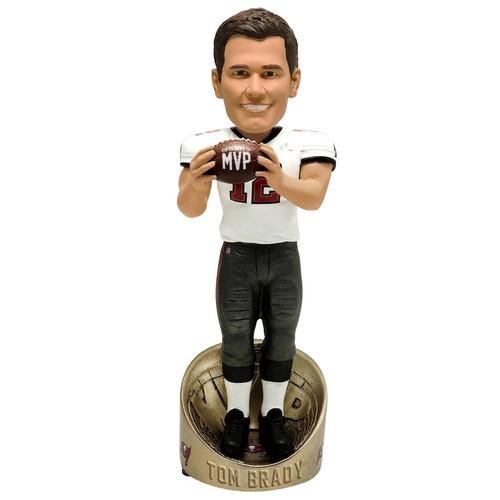 "Tom Brady Tampa Bay Buccaneers Super Bowl LV Champions 10"" MVP Player Bobblehead Doll Bobble"