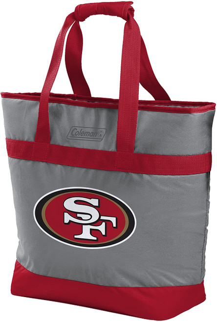 San Francisco 49ers NFL Soft-Side Insulated Large Tote Cooler Bag, 30-Can Capacity