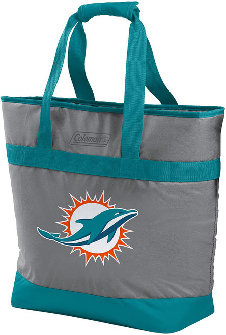 Miami Dolphins NFL Soft-Side Insulated Large Tote Cooler Bag, 30-Can Capacity