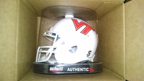 Virginia Tech Hokies ALTERNATE WHITE Schutt Mini Authentic Helmet