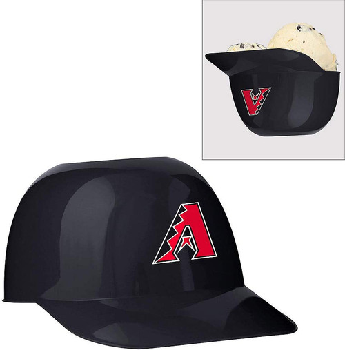 Arizona Diamondbacks MLB 8oz Snack Size / Ice Cream Mini Baseball Helmets - Quantity 24