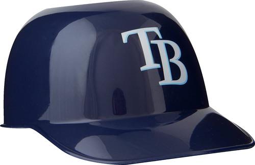 Tampa Bay Rays MLB 8oz Snack Size / Ice Cream Mini Baseball Helmets - Quantity 6