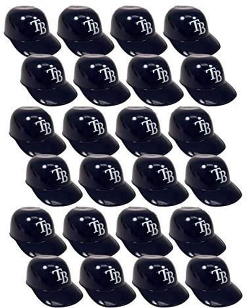 Tampa Bay Rays MLB 8oz Snack Size / Ice Cream Mini Baseball Helmets - Quantity 24