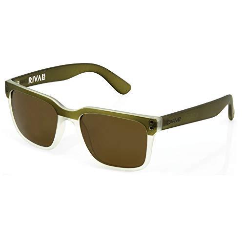 Carve Rival Sunglasses - Matte Olive Frame / Bronze Lens - Polarized