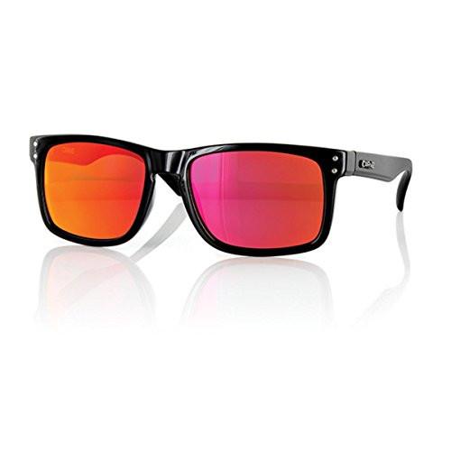 Carve Goblin Sunglasses - Gloss Black Iridium Frame / Red Lens