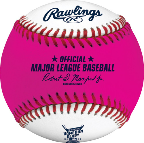 2021 MLB All-Star Game Rawlings Official Pink Home Run Derby Moneyball Baseball - Colorado