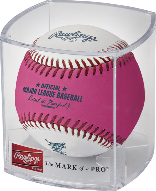 2021 MLB All-Star Game Rawlings Official Pink Home Run Derby Moneyball Baseball In Cube - Colorado