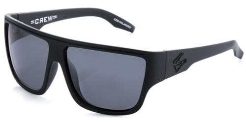 Carve Crew Sunglasses - Matt Black Frame / Grey Lens - Polarized