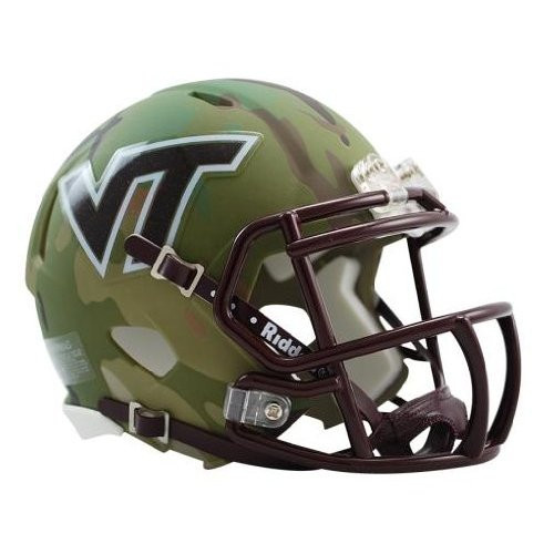 Virginia Tech Hokies NCAA Mini Speed Football Helmet - Special Camo