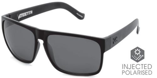 Carve Vendetta Floating Sunglasses - Matt Black Frame / Hydrophobic Injected Lens - Polarized