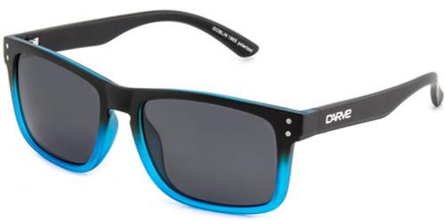 Carve Goblin Sunglasses - Matt Black Blue Frame / Grey Lens - Polarized