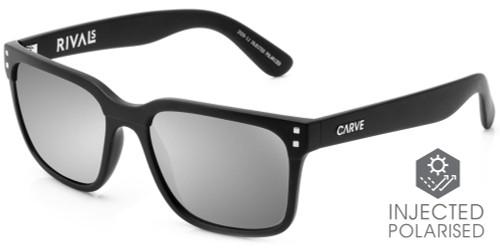 CARVE Rivals Sunglasses Matt Black Injected Iridium - Polarized