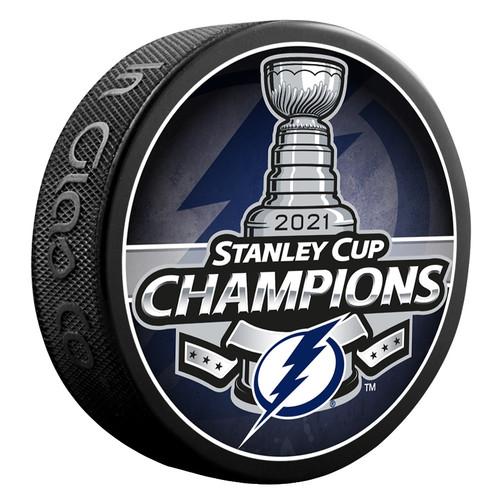 2021 NHL Stanley Cup Champions Tampa Bay Lightning Souvenir Puck