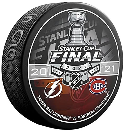 2021 NHL Stanley Cup Final - Tampa Bay Lightning vs. Montreal Canadiens Dueling Souvenir Puck