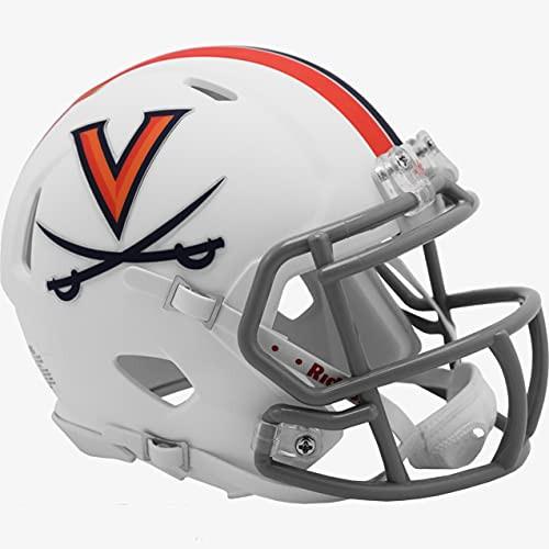 Virginia Cavaliers Matte White Revolution Speed Mini Football Helmet