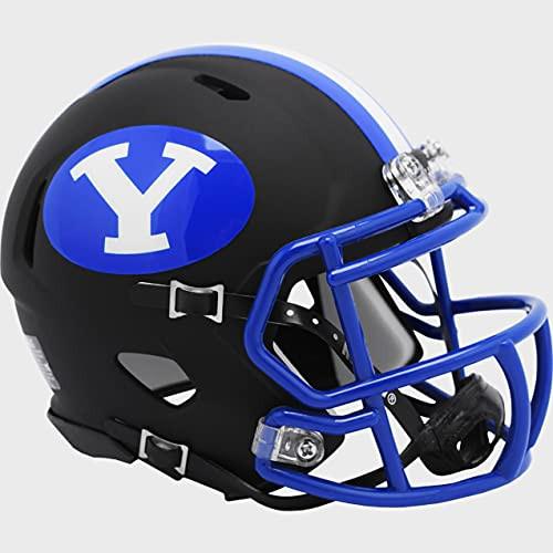 BYU Brigham Young Cougars Matte Black 2020 Revolution Speed Mini Football Helmet