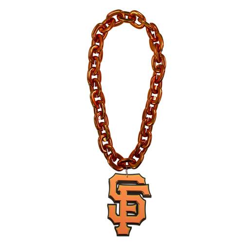 San Francisco Giants MLB Fan Chain 10 Inch 3D Foam Magnet Necklace Orange