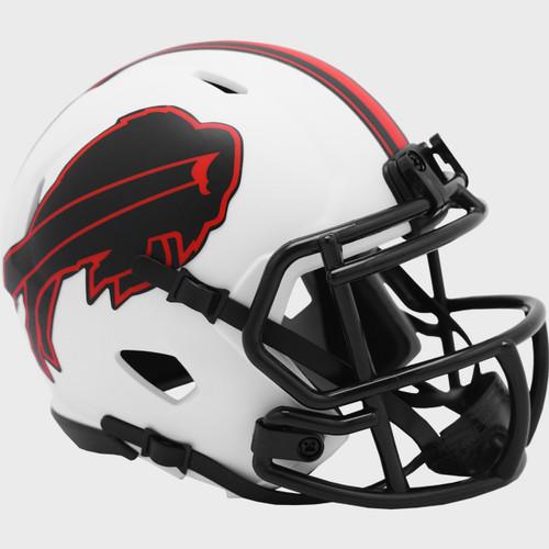 Buffalo Bills Lunar White Revolution Speed Mini Football Helmet