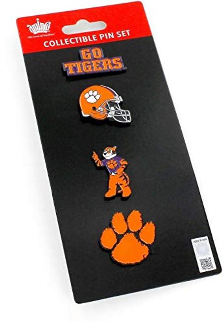 NCAA Clemson Tigers Seminoles Team Pride Collectible Lapel Pin Set 4-Pack