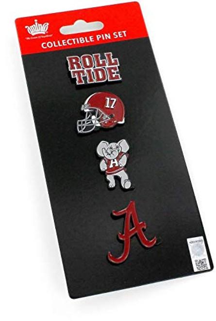 NCAA Alabama Crimson Tide Team Pride Collectible Lapel Pin Set 4-Pack