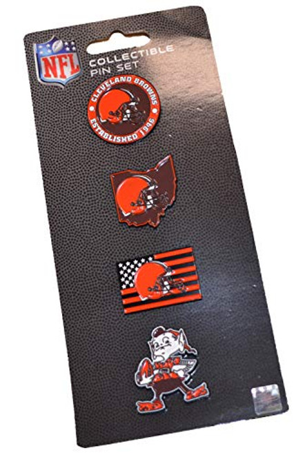 Cleveland Browns NFL Team Pride Collectible Lapel Pin Set 4-Pack