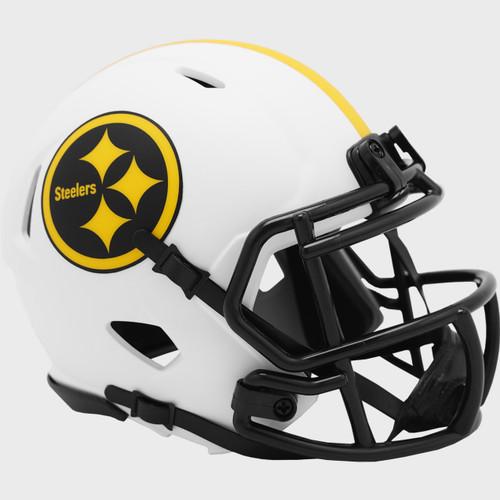 Pittsburgh Steelers Lunar White Revolution Speed Mini Football Helmet