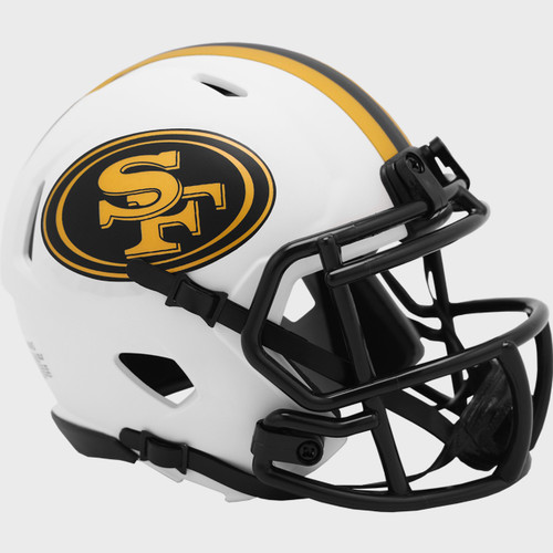 San Francisco 49ers Lunar White Revolution Speed Mini Football Helmet