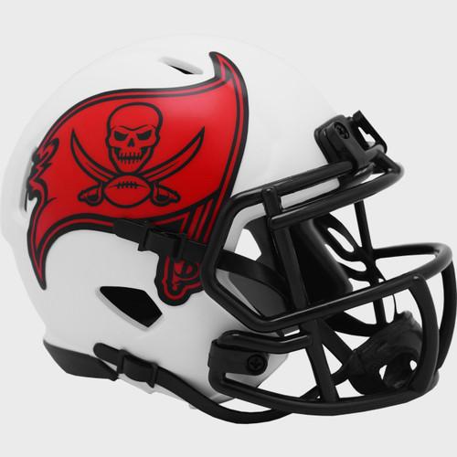 Tampa Bay Buccaneers Lunar White Revolution Speed Mini Football Helmet