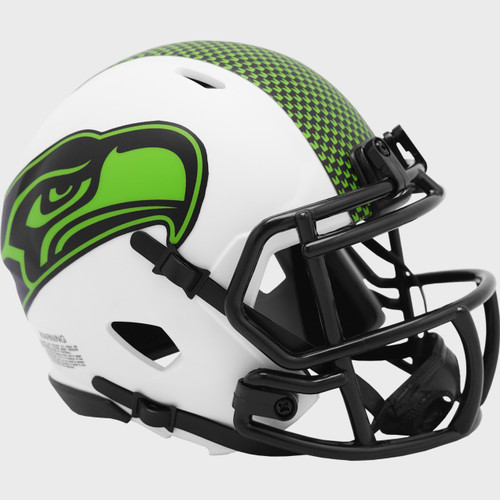 Seattle Seahawks Lunar White Revolution Speed Mini Football Helmet