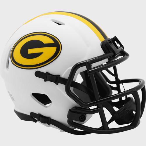 Green Bay Packers Lunar White Revolution Speed Mini Football Helmet