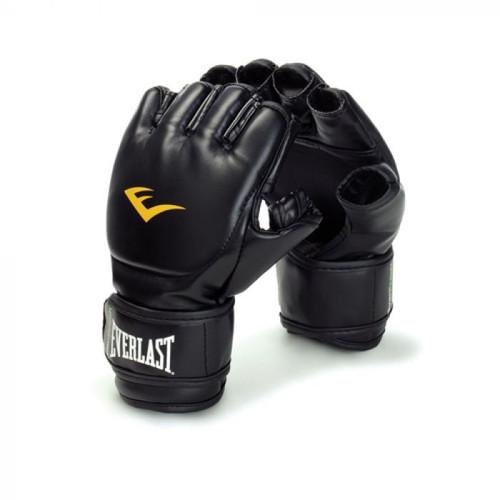 Everlast Black MMA Grappling Gloves UFC