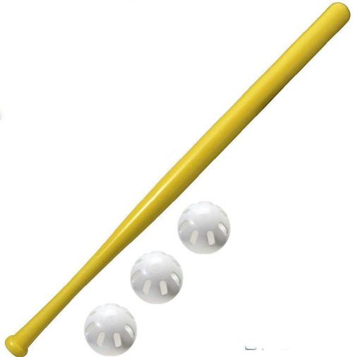 Wiffle 32' Bat and 3 Baseball Ball Set Bundle by Wiffleball