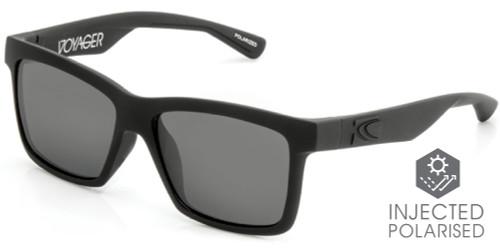 Carve Voyager Floating Sunglasses - Matt Black Frame / Gray Hydrophobic Injected Lens - Polarized