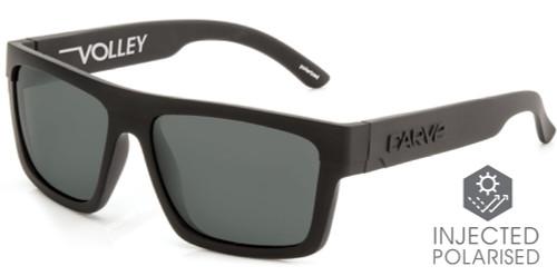 Carve Volley Floating Sunglasses - Matte Black Frame / Grey Lens - Polarized