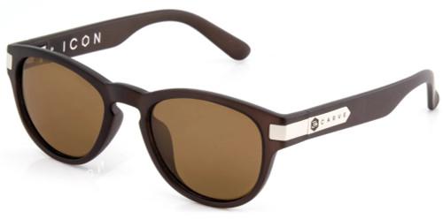 Carve Icon Sunglasses - Matte Brown Translucent Frame - Bronze Lens - Polarized