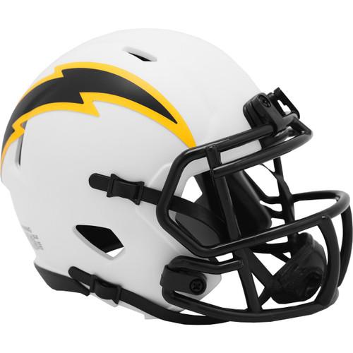 Los Angeles Chargers Lunar White Revolution Speed Mini Football Helmet