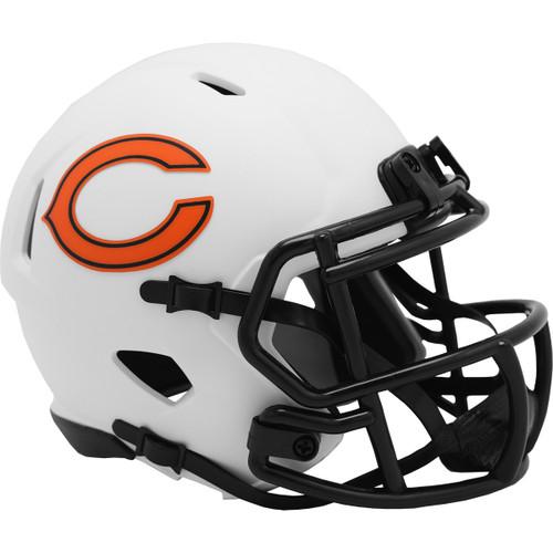 Chicago Bears Lunar White Revolution Speed Mini Football Helmet