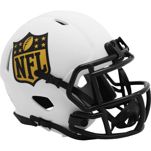 NFL Shield Lunar White Revolution Speed Mini Football Helmet