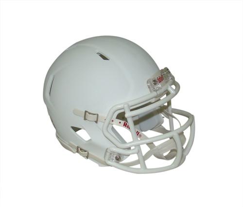 Shiny White with White Mask Blank Riddell Revolution SPEED Mini Football Helmet